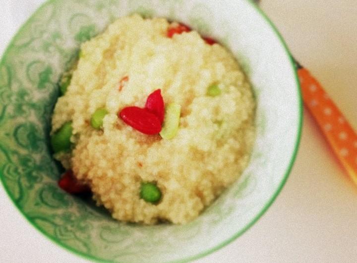 寶寶健康輔食譜 : 小米毛豆粥