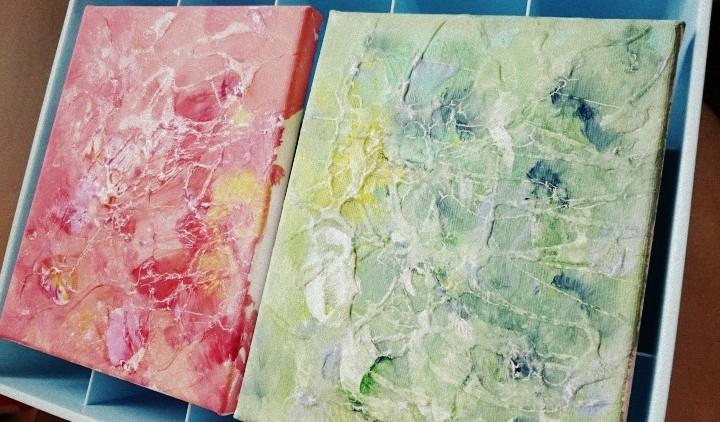 當白膠漿遇上顏料……