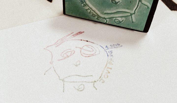 孩子第一幅自畫像